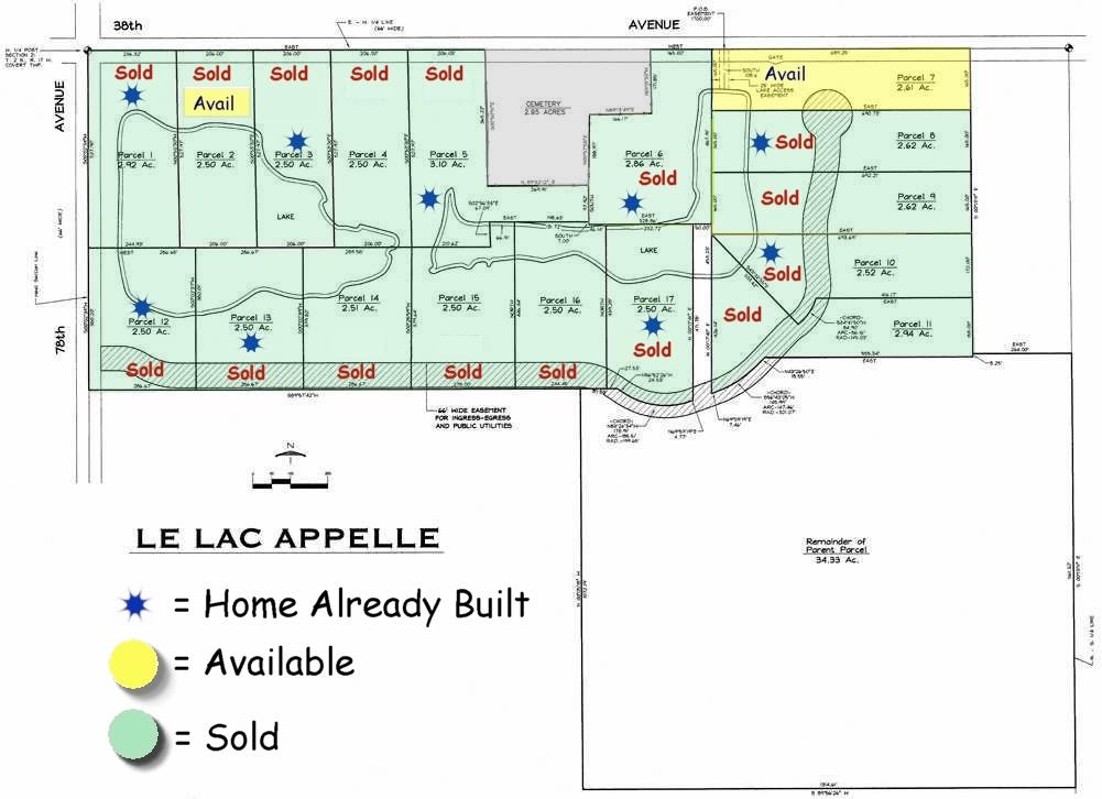 Lakefront development in Southwest Michigan Near South Haven Michigan