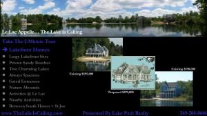 Slide show of lakefront development near South Haven Michigan
