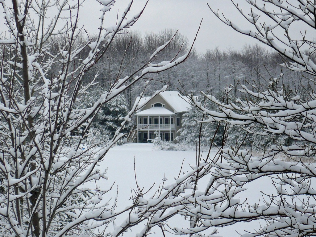 Winter Wonderland Lakefront Home Near South Haven Michigan
